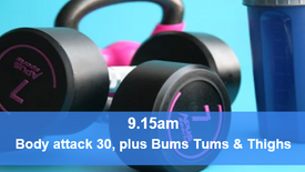 20/05/21 Body attack 30, plus Bums Tums Thighs.