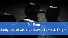 29/04/21 body attack 30, plus Bums Tums Thighs.