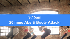 09/04/21 20 mins, Abs, booty and core attack.