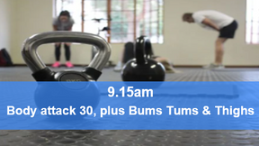 10/05/21 body attack 30, plus Bums Tums Thighs.