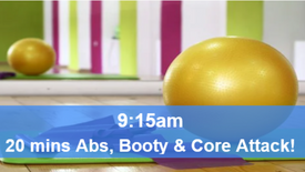 11/05/21  20 mins, Abs, booty and core attack