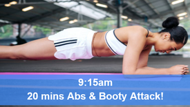 16/04/21 20 mins, Abs, booty and core attack.