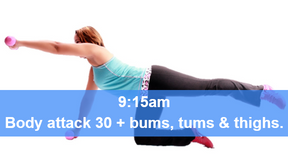 05/04/21  body attack 30, plus Bums Tums Thighs.