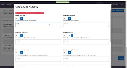 4) Grading & Approving a P&P (FO & HQ Users)