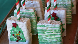 Easy Christmas rice krispies treats 🎄   IG: danisdulceconfections   Classes: Www.danisdulceconfections.com