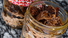 Rolo brownie in a jar ❤