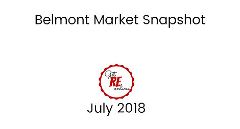 Belmont Market Overview,CA, Real Estate Market Update from Intero Real Estate,July, 2018