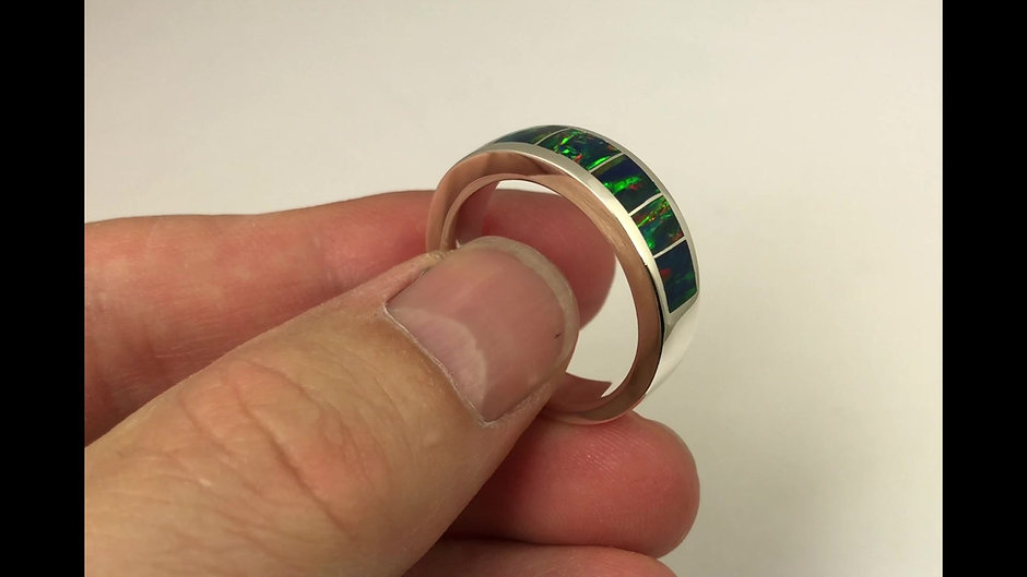 Lab Opal Rings, Wedding Bands and Engagement Rings