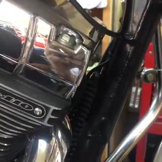 Harley Motor Mount Comparison, Before & After