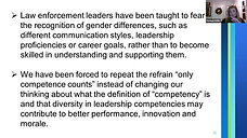 Equality and Feminist Leadership in Policing