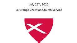 La Grange Christian Church July 26th, 2020