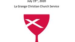 La Grange Christian Church July 19th, 2020