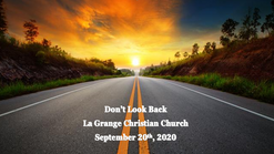 Sept 20th - Don't Look Back