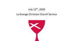 La Grange Christian Church July 12th, 2020