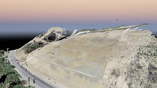 Topografía Aérea con Drone - Talud Carretera