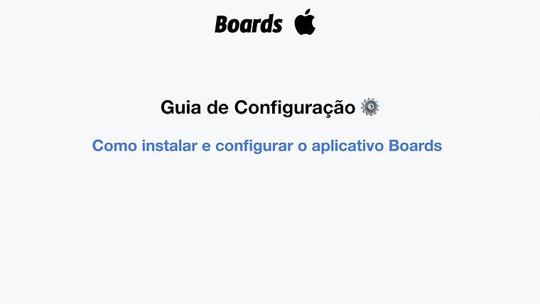 Como instalar e configurar o aplicativo Boards - iPhone