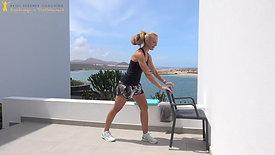 Workout mit Stuhl