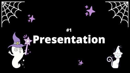 1 Presentation - Spooky House Shadow Box