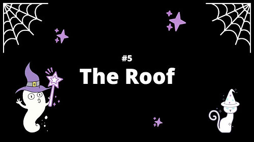 5 The Roof - Spooky House Shadow Box