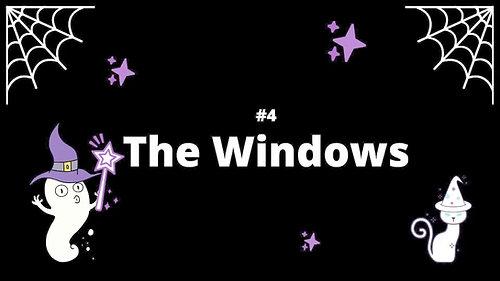 4 The Windows - Spooky House Shadow Box