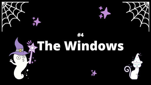 4 The Windows - Spooky House Shadow Box