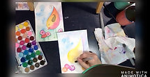 class watercolor Bird .......#1