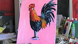 ACRYLIC PAINTING: rooster