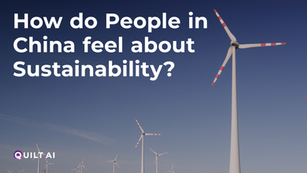 How do People in China feel about Sustainablity