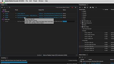 Samenwerking tussen Adobe Media Encoder en Premiere Pro