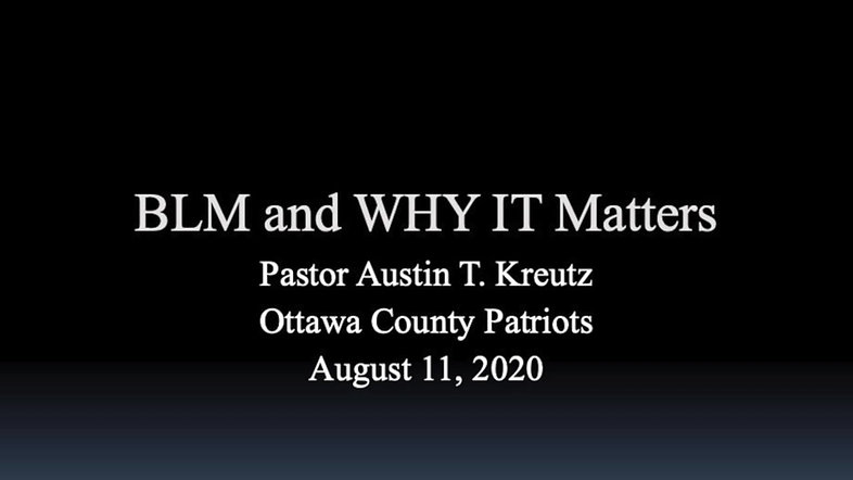 BLM & Why It Matters Part 1