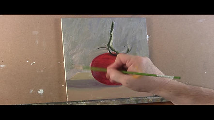 Tomato Painting in Oil