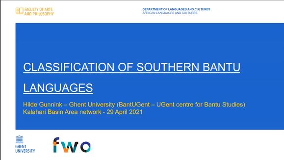 Hilde Gunnink // Classification of Southern Bantu Languages