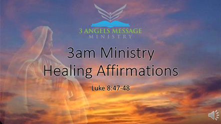 Healing Affirmation Video - Luke 8
