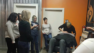 Haircuts inc face shave training AmericanCrew