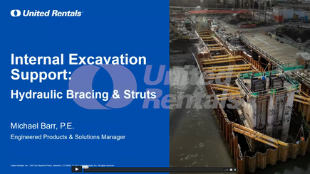 Internal Excavation Support Hydraulic Bracing and Struts