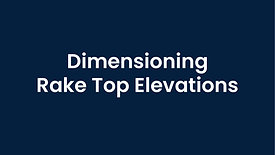 Dimensioning a Rake Top Elevation in WinBidPro CAD