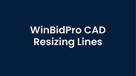 WinBidPro CAD Re-sizing Lines and Rectangles
