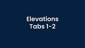 Elevations - Tabs 1-2