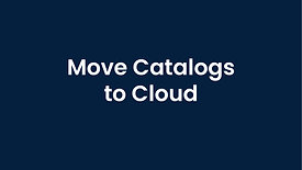 Moving Catalogs to a Cloud Drive