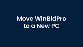 Copying WinBidPro to a New Computer