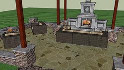 Fireplace Fire Pit Option A