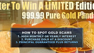 CNA - Money Mind / How to Spot for Gold Scams