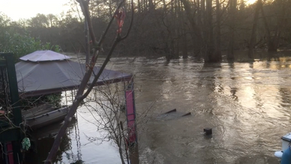 River after the storms - 19 Feb 2020