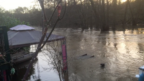 [4]  River Wey after Storm Dennis