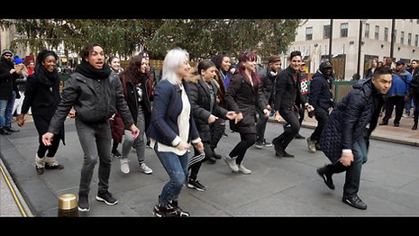 Dec 2017 at Rockefeller Center - Mike's Flash Mob Marriage Proposal