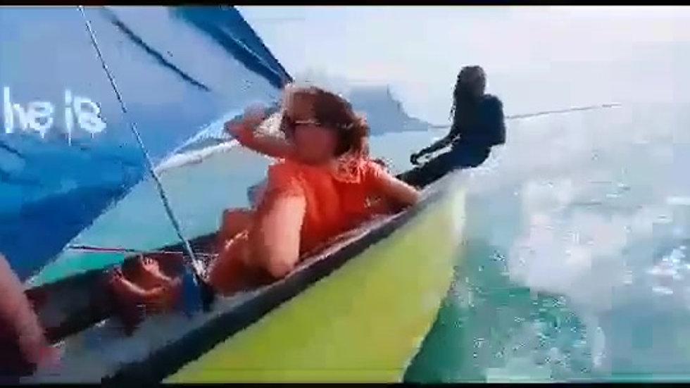 Régate dans le lagon du Morne