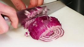 紫玉ねぎの粗みじん切り