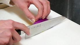 紫玉ねぎの薄切り比較