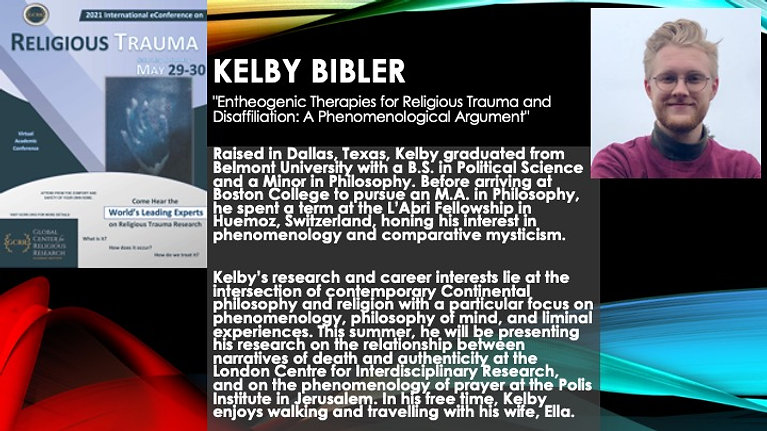 """""""Entheogenic Therapies for Religious Trauma and Disaffiliation: A Phenomenological Argument"""" (Kelby Bibler)"""