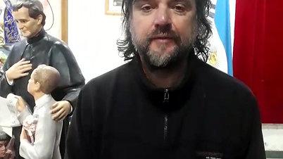El Padre Pepe en agradecimiento a Mision-ar